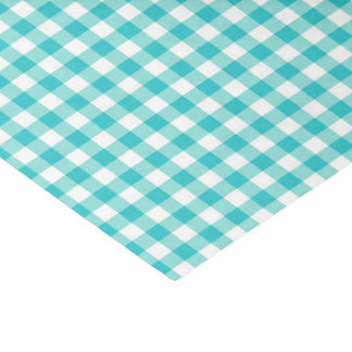 Gingham Plaid_Teal Tissue Paper