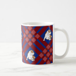 Gingham Red Bulldog Coffee Mug