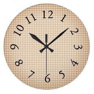 Gingham_San Telmo Beige_Checks Large Clock