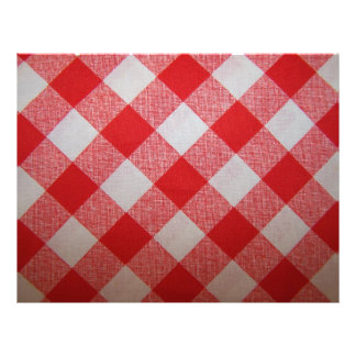 Gingham Scrapbooking Paper Letterhead Template