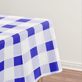 Gingham / tartan / plaid pattern blue tablecloth