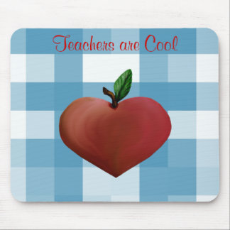 Gingham Teacher Mouse Pad