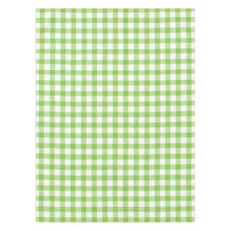 Gingham white and green check tablecloth