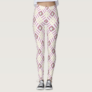 Gingham White Bulldog Leggings