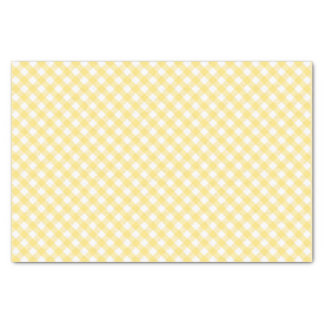 Gingham Yellow Diagonal Pattern Tissue Paper