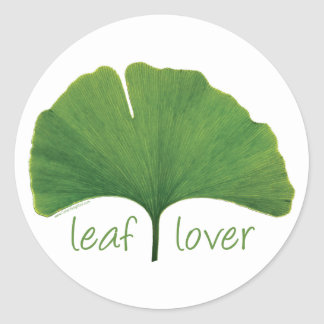 Gingko Leaf Classic Round Sticker