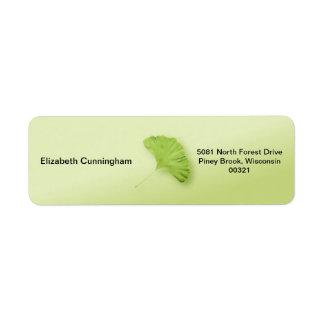 Gingko Leaf Return Address Label