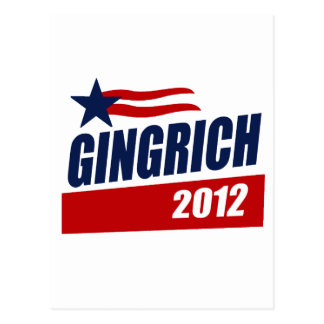 GINGRICH 2012 CAMPAIGN BANNER POSTCARD