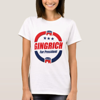 GINGRICH FOR PRESIDENT (Republican) T-Shirt