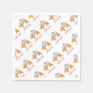 Ginjas Ninjas Christmas Ninja Gingerbread Paper Napkins