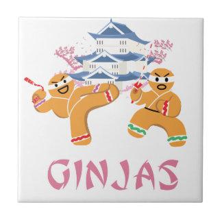 Ginjas Ninjas Christmas Ninja Gingerbread Tile