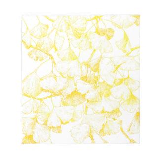 Ginkgo biloba Autumn Gold Notepad