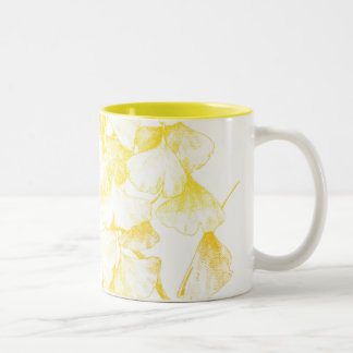 Ginkgo biloba Autumn Gold Two-Tone Coffee Mug