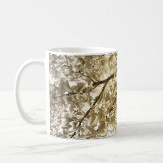 Ginkgo biloba in autumn coffee mug