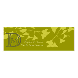 Ginkgo Branch Double-Sided Mini Business Cards (Pack Of 20)