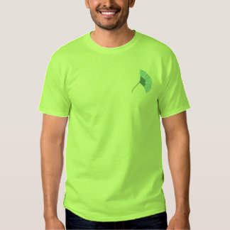 Ginkgo Leaf Embroidered T-Shirt