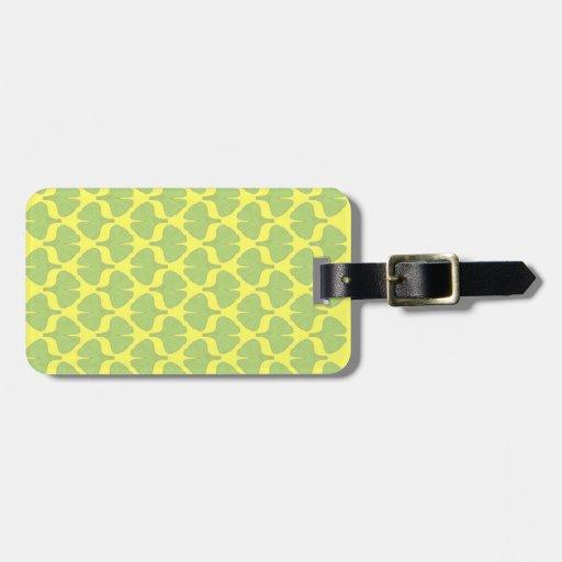 Ginkgo leaf field travel bag tag