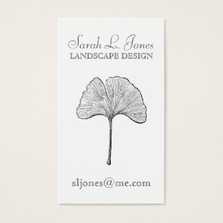 Ginkgo Leaf Simple Elegant Natural Business Card