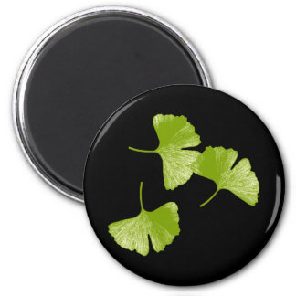 Ginkgo Leaves 2 Inch Round Magnet