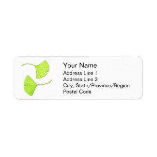 Ginkgo Leaves Address Labels