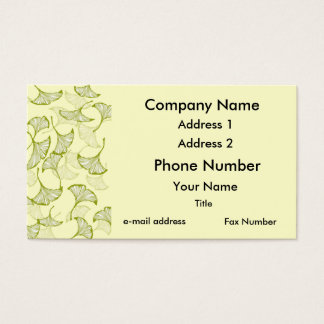 Ginkgo Leaves Business Card