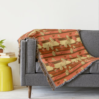 Ginkgo Leaves Throw Blanket