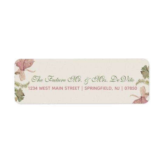 Ginkgo Watercolor Floral Wedding Return Label