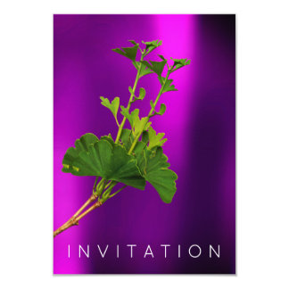 Ginko Billoba Chef Dinner Greenery Organic Purple Card