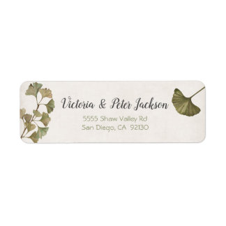 Ginko Foliage address label