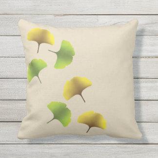 Ginko leaf throw pillow