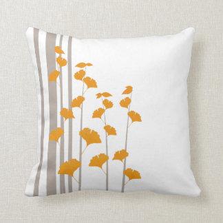 Ginko Style Square Throw Pillows