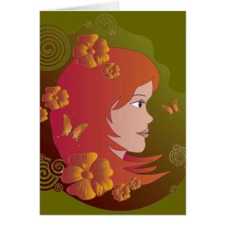 Ginny in Emerald Card