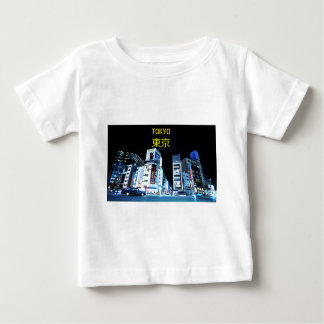 Ginza district in Tokyo, Japan at night Baby T-Shirt