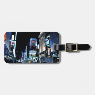 Ginza district in Tokyo, Japan at night Luggage Tag