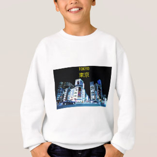 Ginza district in Tokyo, Japan at night Sweatshirt