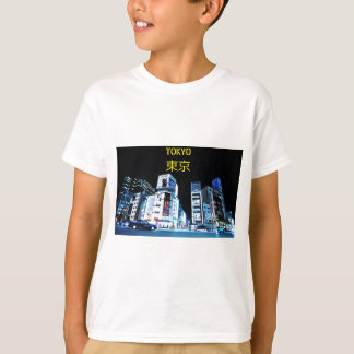 Ginza district in Tokyo, Japan at night T-Shirt