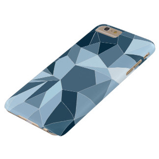 Giometric diamond shaded blue pattern barely there iPhone 6 plus case