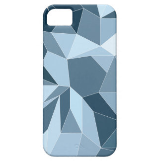 Giometric diamond shaded blue pattern case for the iPhone 5