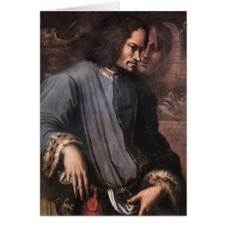 Giorgio Vasari:Lorenzo de Medici 'The Magnificent' Card