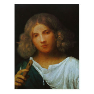 Giorgione- Boy with flute Postcard