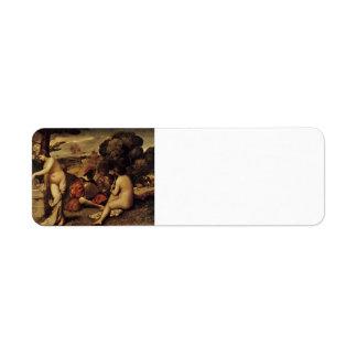 Giorgione- Pastoral Concert Fête champêtre Custom Return Address Label