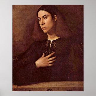 Giorgione - Portrait of Antonio Broccardo Poster