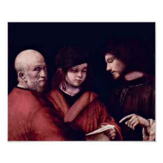 Giorgione - The three Meschenalter Poster