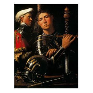 Giorgione- Warrior with Groom Postcard