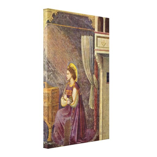 Giotto di Bondone - Mary of the Annunciation Stretched Canvas Prints