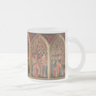 giotto's baroncelli-polyptych frosted glass coffee mug