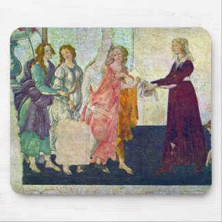 Giovanna degli Albizzi with Venus and the Graces b Mouse Pad