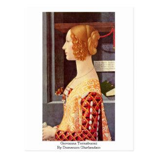 Giovanna Tornabuoni By Domenico Ghirlandaio Postcard
