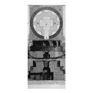 Giovanni Battista Piranesi- Plan of a factory tomb Customized Rack Card
