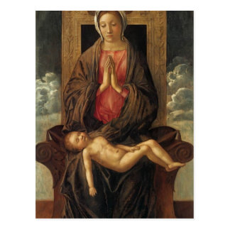 Giovanni Bellini-Madonna Cherishing the Child Postcard